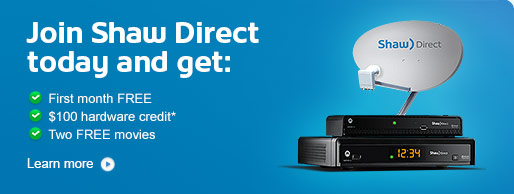 Shaw Direct $100 hardware credit promo